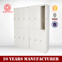 Hot sell durable practical cheap kd metal six door locker