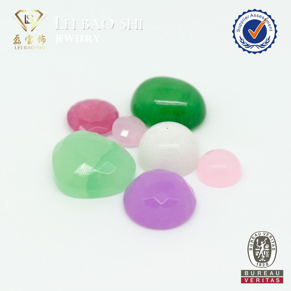 Colored Facetd Cut Natural Dyed Jade Gemstone