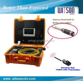 Witson CCTV Pipe Inspection Camera System with 20M cable and 22mm camera head with sonde