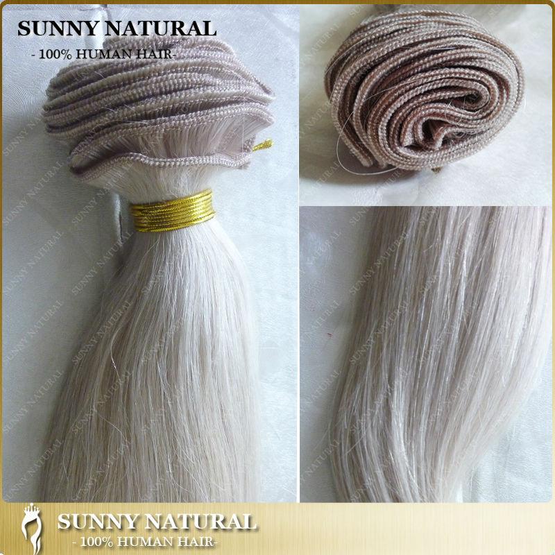 Light Silver Grey Hair Bundles Silky Straight Virgin Brazilian Hair