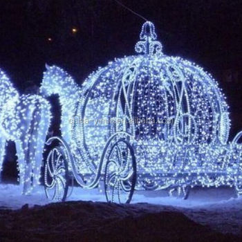 Christmas Led Lighted Pumpkin Carriage cinderella cart/wagon