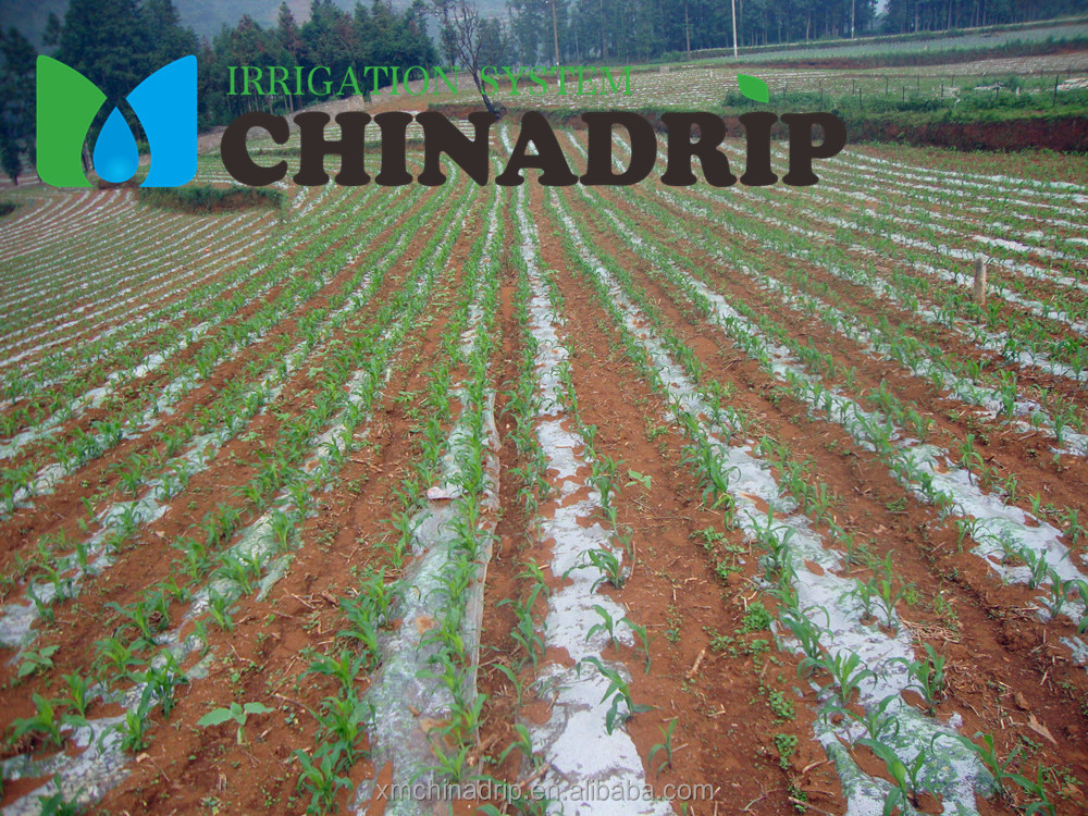 Drip irrigation plastic film mulch