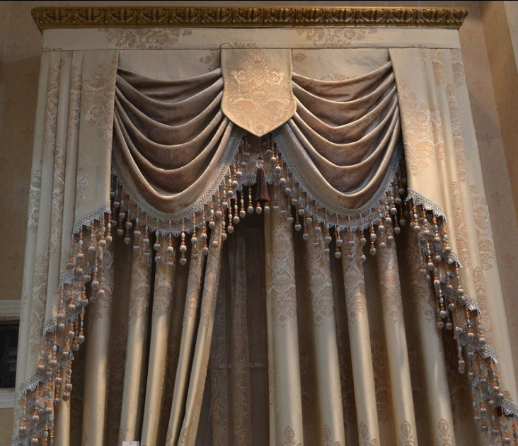 Wholesale Fabric Curtains With Attached Valance For Living Room Buy Living Room Curtains