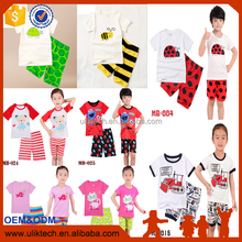 Summer Kids Pajamas Baby Boys Girls Clothing Print Short Sleeved Cotton Kids Pijamas Children Sleepwear Pajamas