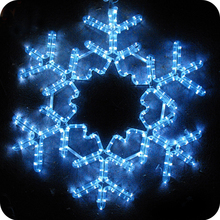 Outdoor led lights window star snowflake decorations