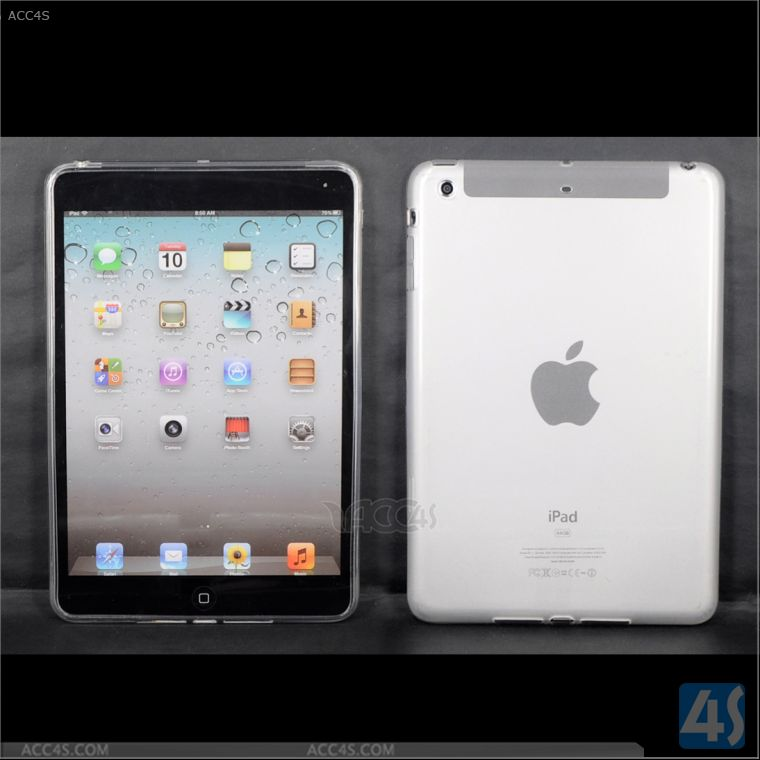 Clear Blank TPU Tablet Case For Apple iPad Mini Retina Wholesale in Guangdong P-IPDMINIiiTPU002