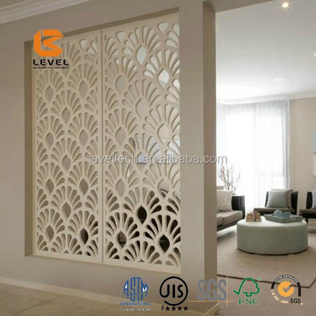 18mm Hot Selling Carved MDF Grille Panels Laser Cutting Panels