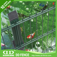 Metal Double Wire Mesh Fence/ Double Horizontal Welded Wire Fences/ Galvanized Welded Twin Wire Panels