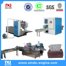 Cutter and package eqyipment embossed folding facial paper machinery line