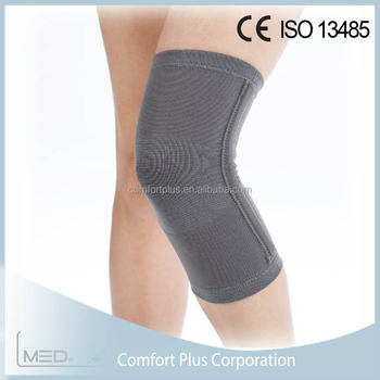 Bamboo charcoal spiral stays knitted knee support