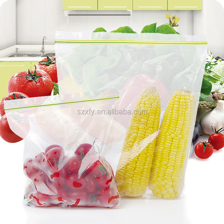 Transparent and Waterproof PE/PP Ziplock Plastic Packaging Bag for Packing Fresh Vegetables and Fruits