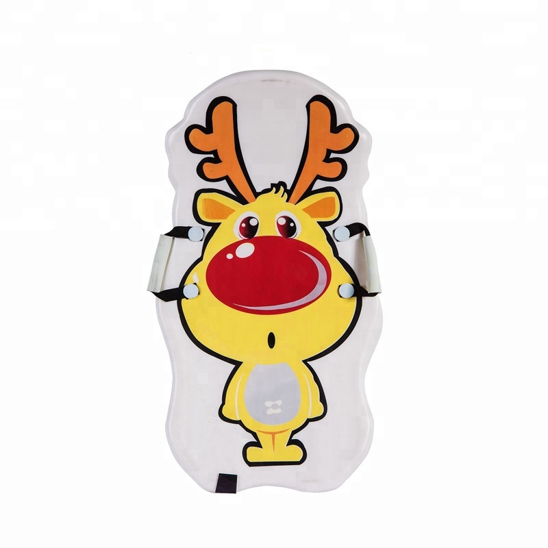 Animal cute design  snowboard with handle