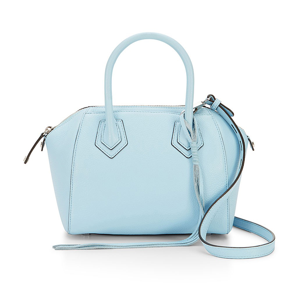 Sky Color Full Grain Leather Fashion Cheap Wholesale Handbags From China