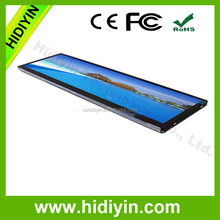 HIDIYIN 28.8 inch ultra-wide lcd monitor bar stretched lcd screen for digital signage