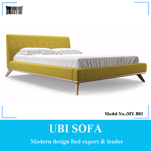 Latest bedroom furniture french design queen size upholstered bed MY-B02