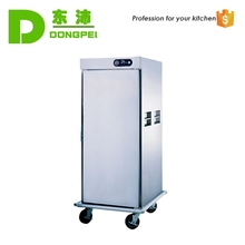hotel mobile food warmer cart/food warming cabinet/holding banquet cart