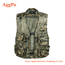 Outdoor Fishing Vest Quick-Dry Multi Pockets Mesh Vest Hunting Waistcoat Travel Photography Jackets