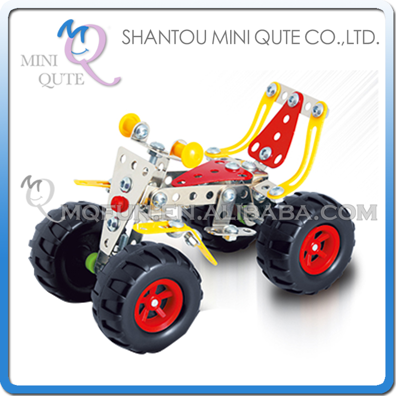 MINI QUTE Motorcycle Iron commander metal connect puzzle Assembly DIY building blocks for kids educational toys NO.816B-43