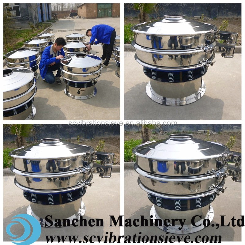 san chen brand Welding rod ore alloy ceramic powder vibrating sieve machine
