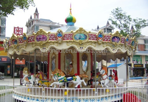 Active Demand Amusement Rides Carousel horse with Amazing Decoration
