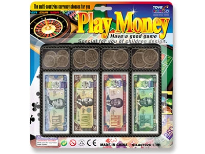 Liberian Dollar money play set toy
