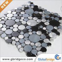 Sample Colors Glass And Metal Mosaic Tiles M8AP&Q334