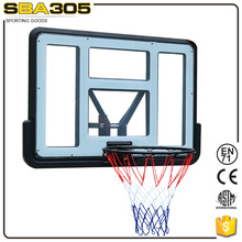 transparent glass basketball backboard frame