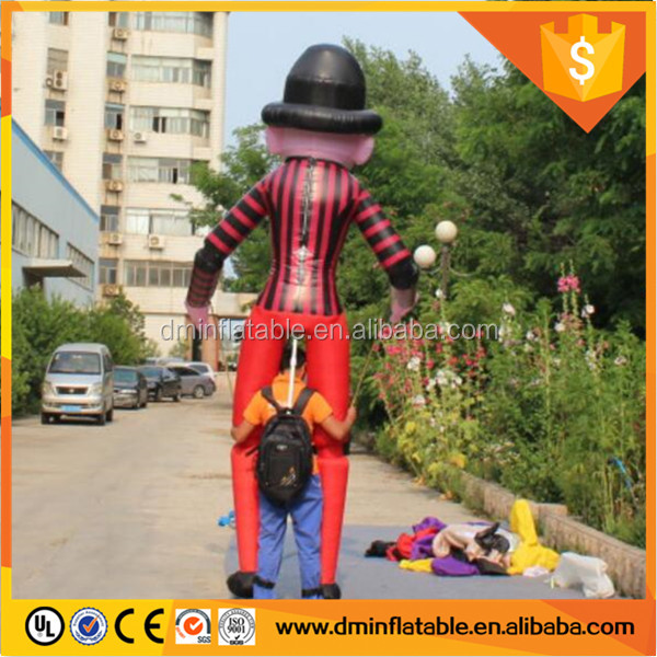 Outdoors Parade Inflatable Walking Clown Costume