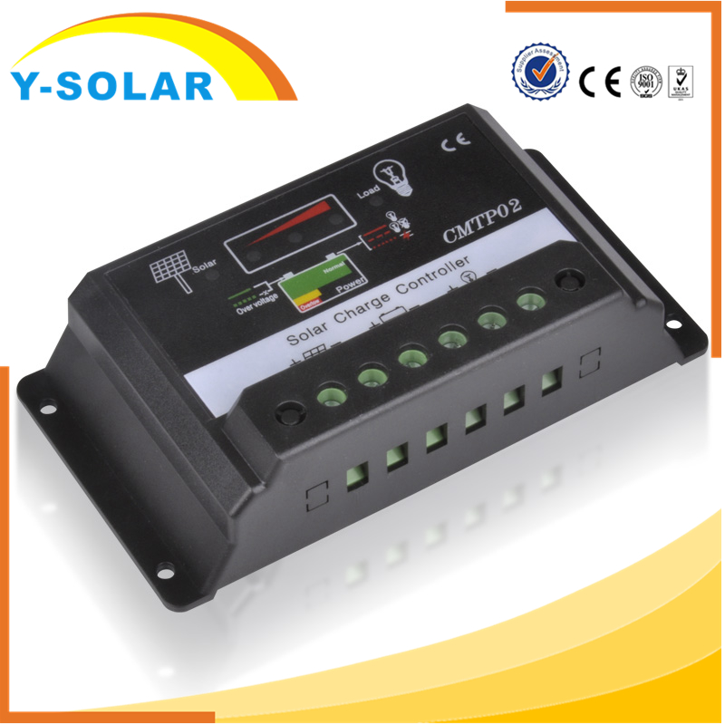 Y-SOLAR CMTP02-20A PWM Solar Charger Controller 20A 12V 24V LCD Display Dual Solar Panel Battery Mobile Phone Charger Regulator