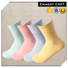 Solid color women cotton tube socks cushion socks