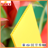 Garage Polycarbonate Roofing 6mm Colored two-wall hollow pc sheets