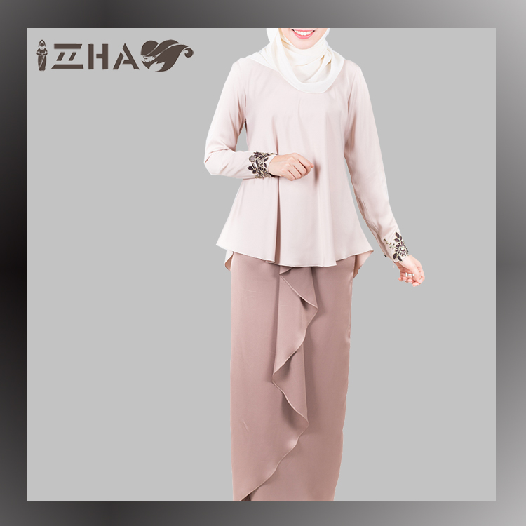 Women Latest Design Round Neck Moden Exclusive Hijau Baju Kurung Style Online Shop Model Baju Kurung Kebaya