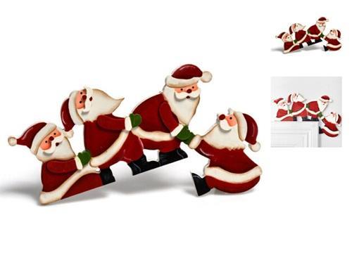 Christmas santa claus parachute drop pendants christmas tree