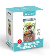 Dinosaur Fairy Garden in a Jar | Grow and Glow STEM Educational Toys for Children | Light-up Terrarium Kit for <strong>Kids</strong>