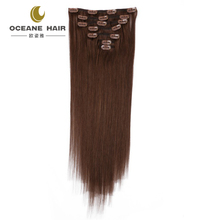 Oceane hair wholesale 100% virgin brazilian hair clip-on hair extension