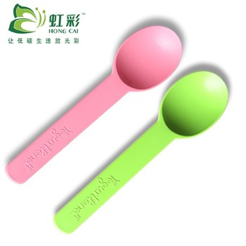 clear disposable biodegradable plastic ice cream spoon