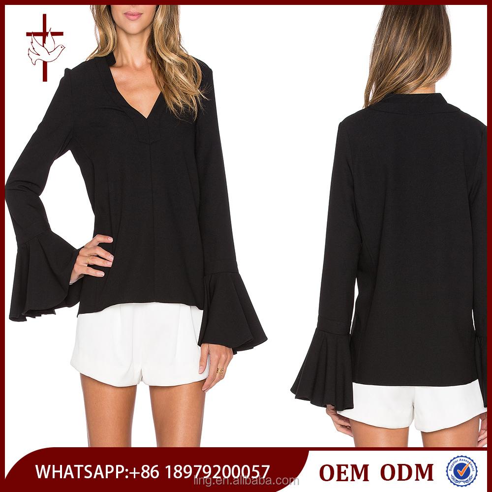 Womens Plain Black Blouse 94