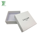 Personal design elegant white jewellery paper box with embossed black logo