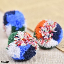 Hmong hill tribe pompoms traditional Thai cotton yarn pom pom