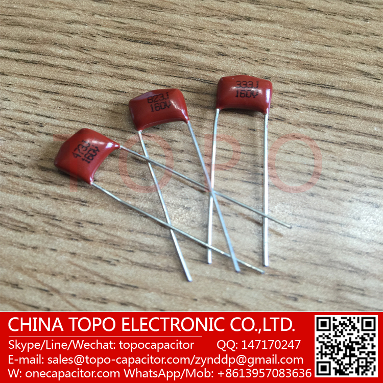 100% Good Quality , Factory Direct RoHS compliant MEF 564j 100v polyester film capacitor (Cl21x) for dc low pulse circuit