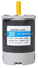 ZD MOTOR ,dc motor , motor without gearbox , round shaft. 60w 35v,2800rpm3.7A 1.7kg