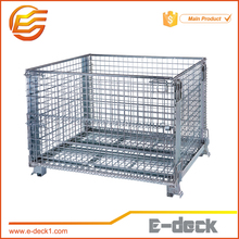 Steel Galvanized Heavy Duty Wire Mesh Container Wire Pallet Cage