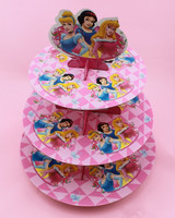 Free Shipping Birthday Party Cardboard Cake Stand Hold 24 Cupcakes
