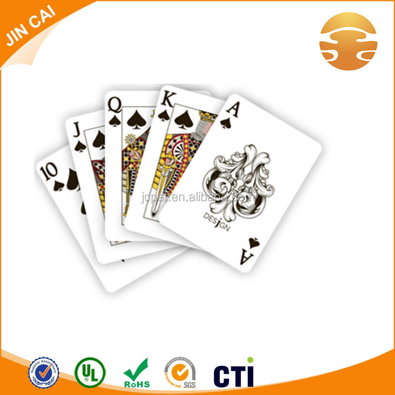 Hot sale playing card plastic sheet/PVC sheet for playing card