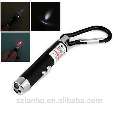 2016 new 3 in 1 Red Ray Laser Beam Pointer Pen + 2 LED Flashlight + UV Torch Light