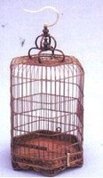 wooden bamboo bird cage
