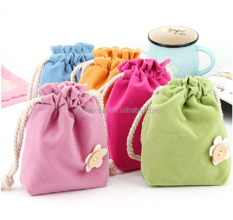 soft cute light hottest sundries storage bag drawstring organizer