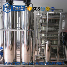 6000LPH resin exchange system deionized ultra-pure water mixed bed plant
