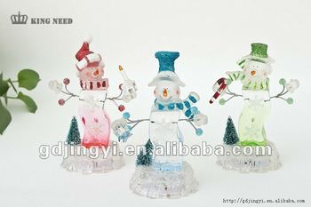christmas decoration acrylic snowman with led