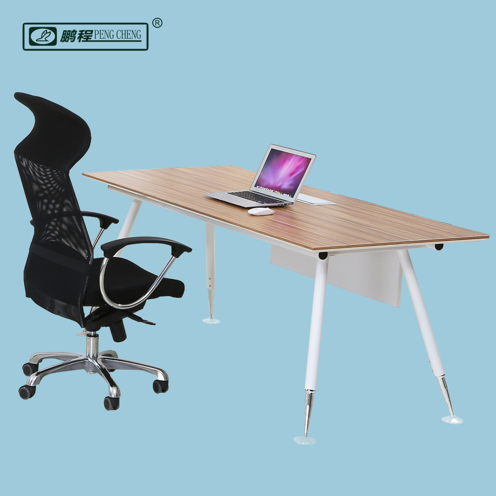 ED03 Modern Office Design Wooden Top Steel Base Executive Desk